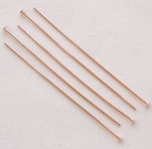 "Rose Gold Plated 2"" Headpin - 50"